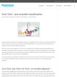 Civic Tech : une nouvelle classification