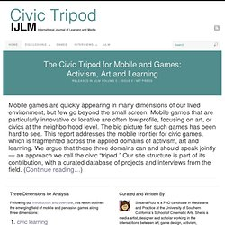 Civic Tripod | Activism / Art / Learning