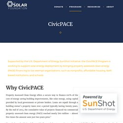 CivicPACE Program - Obtain Solar Energy Finance - The Solar Foundation
