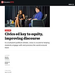 Civics ed key to equity, improving discourse
