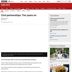 Civil partnerships: Ten years on