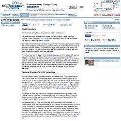 Civil Procedure legal definition of Civil Procedure