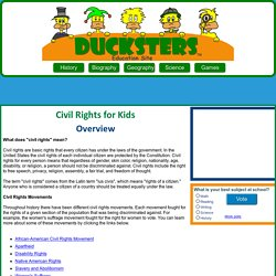 Civil Rights for Kids: Overview