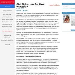 Civil Rights: How Far Have We Come?