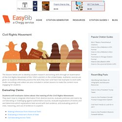 Civil Rights Movement - EasyBib Blog