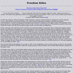 Civil Rights Movement 1955-1965: Freedom Rides