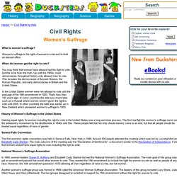 Civil Rights for Kids: Women's Suffrage