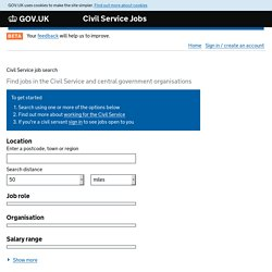Civil Service job search - Civil Service Jobs - GOV.UK