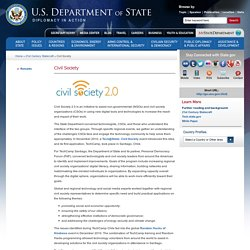 US département of State - Civil Society - diplomacy in action