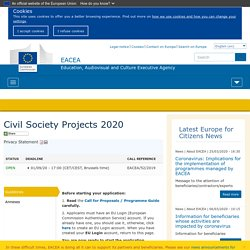 Civil Society Projects 2020