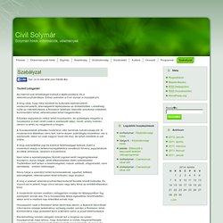 Civil Solymár: Szabályzat