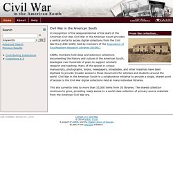 Civil War in the American South