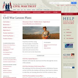 Civil War Lesson Plans