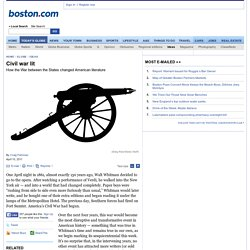 Civil war lit - The Boston Globe
