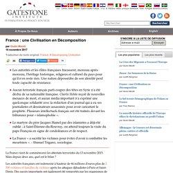 France : une Civilisation en Décomposition
