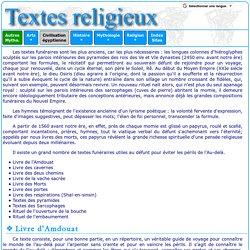 Civilisation égyptienne : textes religieux