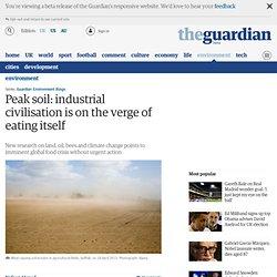 Peak soil: industrial civilisation is on the verge of eating itself