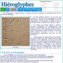 Civilisation égyptienne : Hiéroglyphes