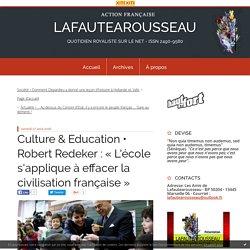 Robert Redeker : « L'école s'applique à effacer la civilisation française » - LAFAUTEAROUSSEAU