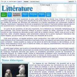 Civilisation égyptienne : littérature