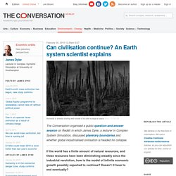 Can civilisation continue? An Earth system scientist explains