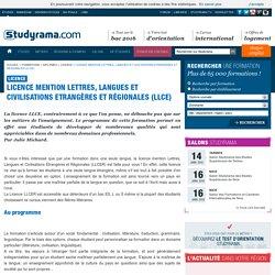 Licence mention Lettres, Langues et Civilisations Etrangères et Régionales (LLCE)