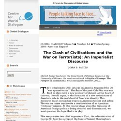 The Clash of Civilisations and the War on Terror(ists): An Imperialist Discourse - Centre for World Dialogue