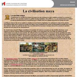 Le mystère des Mayas - Société maya