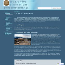 art et architecture - les grandes civilisations précolombiennes