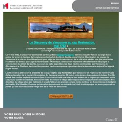 Civilisations.ca - Scènes de la côte du Nord-Ouest - Le Discovery au cap Restoration