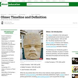 Olmec Civilization - Timeline and Definition