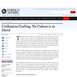 Civilization Grafting: No Culture is an Island