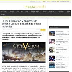 Le jeu Civilization V en passe de devenir un outil pédagogique dans les lycées
