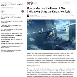 How to Measure the Power of Alien Civilizations Using the Kardashev Scale