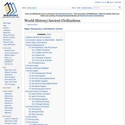 World History/Ancient Civilizations
