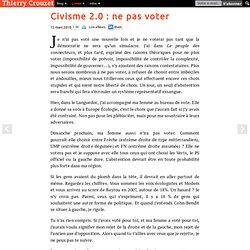 Civisme 2.0 : ne pas voter