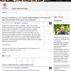 Claes Nilholms blogg