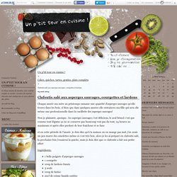 Clafoutis salé aux asperges sauvages, courgettes et lardons - Un p'tit tour en cuisine !