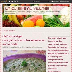 Clafoutis léger courgette/carotte/saumon au micro ondes