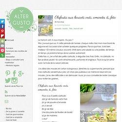 Clafoutis aux haricots verts, amande et feta