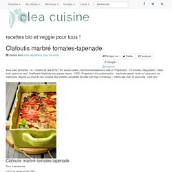 Clafoutis marbré tomates-tapenade