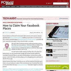 How to Claim Your Facebook Places - PCWorld Business Center