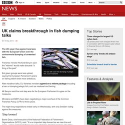 UK claims breakthrough in fish dumping talks