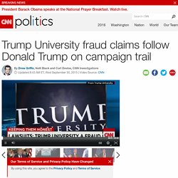 Fraud claims follow Trump University