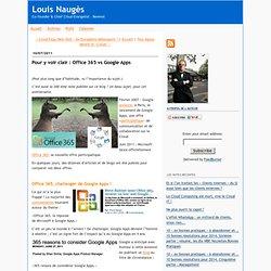 Pour y voir clair : Office 365 vs Google Apps
