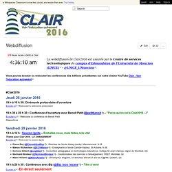 clair2016 - Webdiffusion