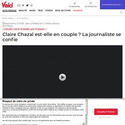 Claire Chazal est-elle en couple? La journaliste se confie