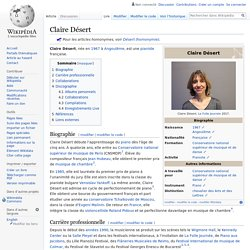 Claire Désert