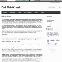 Clairsentience - Dark Metal Classic