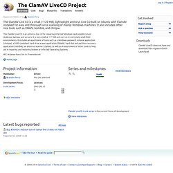 The ClamAV LiveCD Project in Launchpad